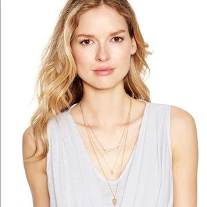 WHBM Gold Convertible Necklace